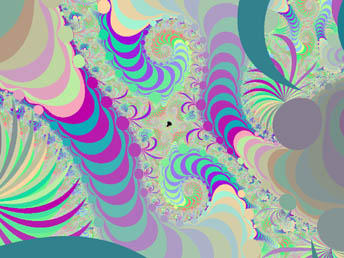 Magnification of Seahorse Valley on Mandelbrot Fractal Butterfly - click to enlarge
